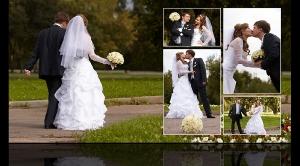 Разворот свадебной фотокниги Антона и Анастасии