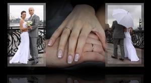 Разворот свадебной фотокниги Тимура и Ирины