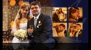 Разворот свадебной фотокниги Анастасии и Антона