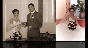 Разворот свадебной фотокниги Андрея и Нтальи