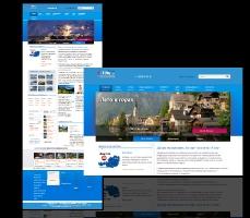 Дизайн и верстка сайта австрийского туристического агенства Альфа Тур